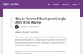 How to Receive Files in your Google Drive Folder from Anyone